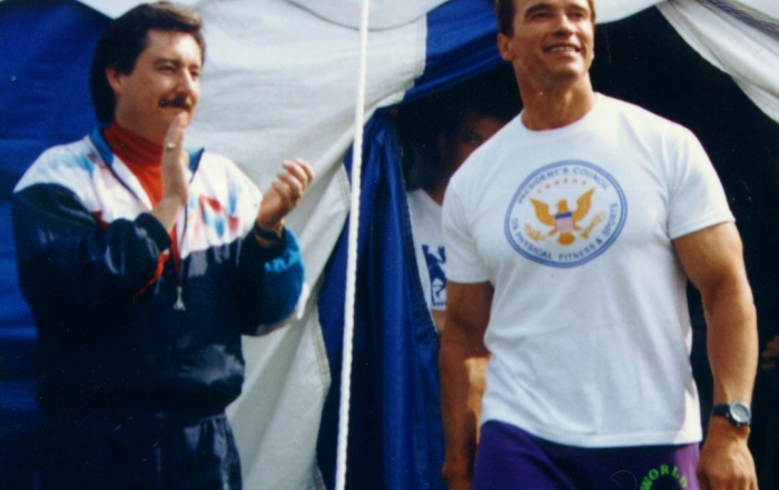 Arnold Schwarzenegger and Scott McKain